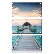 20x30 Vertical Triptych Panel Art with Stand Offs