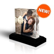 10x10 Square Photo Block with Base