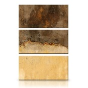 24x36 Vertical Triptych Panel Art with Stand Offs