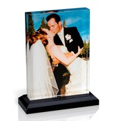5x7 Vertical Photo Block with Base