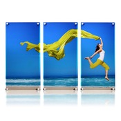 20x30 Horizontal Triptych Art with Stand Offs
