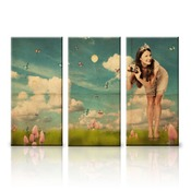 24x36 Horizontal Triptych Panel Art with Stand Offs