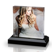 8x8 Square Photo Block with Base