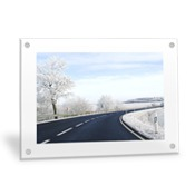 Horizontal 16x20 Clear Frame Wall Art with Stand Offs
