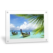 Horizontal 20x24 Clear Frame Wall Art with Stand Offs
