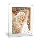 Vertical 20x24 Clear Frame Wall Art with Stand Offs
