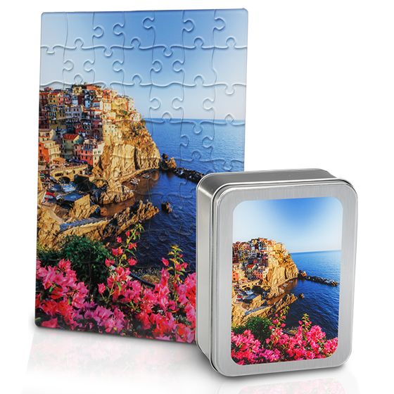 Customizable Acrylic Print Puzzle with Tin