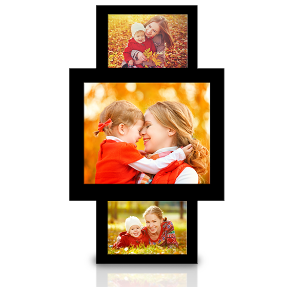 Customizable Acrylic Triptych Frames