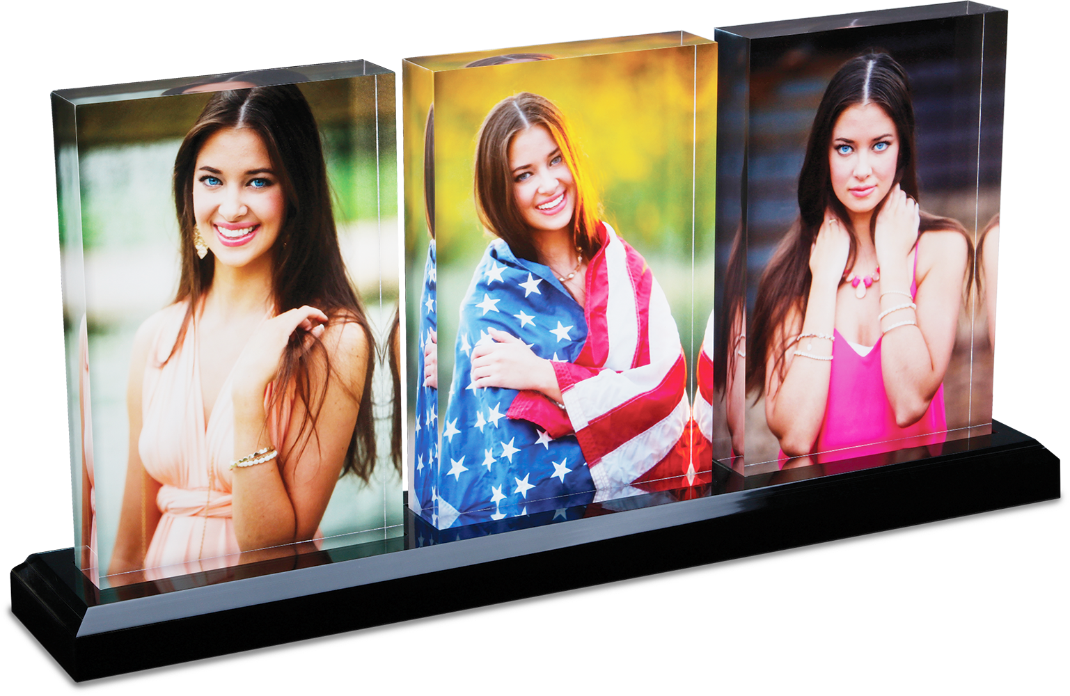 Acrylic Print Tri-Mount Photo Blocks with Base - Photos by Sam Swartz Photography